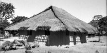 Choza de nueva construcción, Nacala, Mozambique