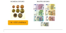 PRIMARIA 4º - MATEMÁTICAS - EL EURO
