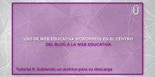 Curso Wordpress básico. Tutorial 9. Subiendo archivos para su descarga