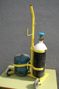 Soldador oxibutano, botellas