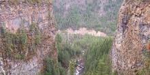 Cañón de la cascada Spahats, Parque Natural Wells Gray Country,