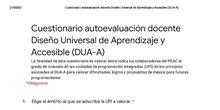 Rúbrica de evaluación + cuestionario DUAA