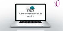 Comunicación con familias en PortalWeb Roble