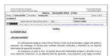 Ficha de Hockey-Sala para 1º ESO