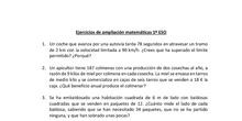 Ejercicios de matemáticas 1º ESO ampliación del 08/06/2020 al 19/06/2020
