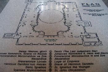 Plano de la Santa Sofía, Estambul, Turquía