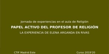 Actividad del profesor de Religión en el Centro