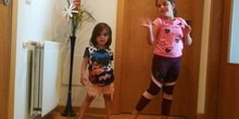 """Carla and her sister sing """"Head, Shoulders, Knees and Toes"""""""