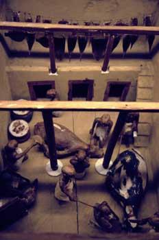 Escultura representación  de un sacrificio, Egipto