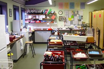 Almacén del laboratorio de ciencias