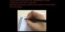 PRIMARIA - 5º - LENGUA- CLASIFICACIÓN DE PALABRAS SEGÚN SUS SÍLABAS - FORMACIÓN