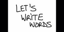 INFANTIL - 4 AÑOS - WRITING I - INGLÉS - FORMACIÓN