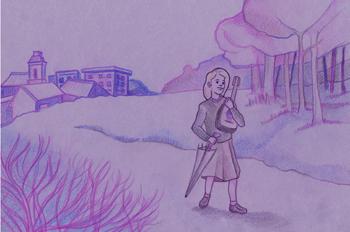 La mandolina: Julia de camino a su casa