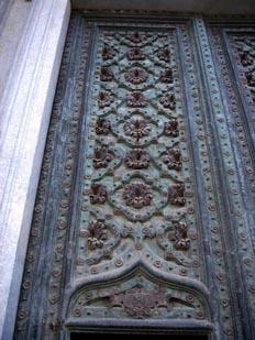 Herraje de puerta de la catedral de Vic, Barcelona, Cataluña