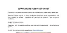 EDUCACIÓN FÍSICA EN CASA