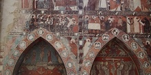 Arcosolioa decorados. San Miguel de Foces, Huesca