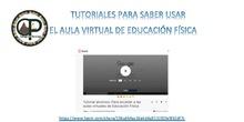 Tutoriales para saber usar el aula virtual de Educación Física del CEIP El Peralejo de Alpedrete