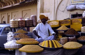 Vendedor de dulces y frutos secos, Ajmer, India