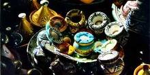 Pequeños tajines y ceniceros de cerámica, Marruecos