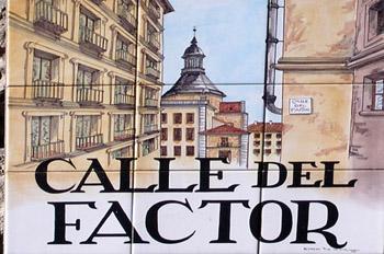 Indicativo de calle, Calle del Factor, Madrid