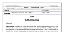 Ficha de Baloncesto 2 para 1º ESO