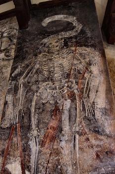 Pintura mural del claustro de la Colegiata de Alquezar. Huesca