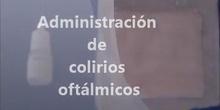 Administración de colirio oftalmologico