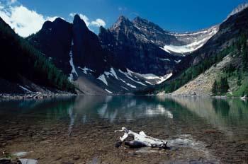 Agua del deshielo, Montañas Rocosas