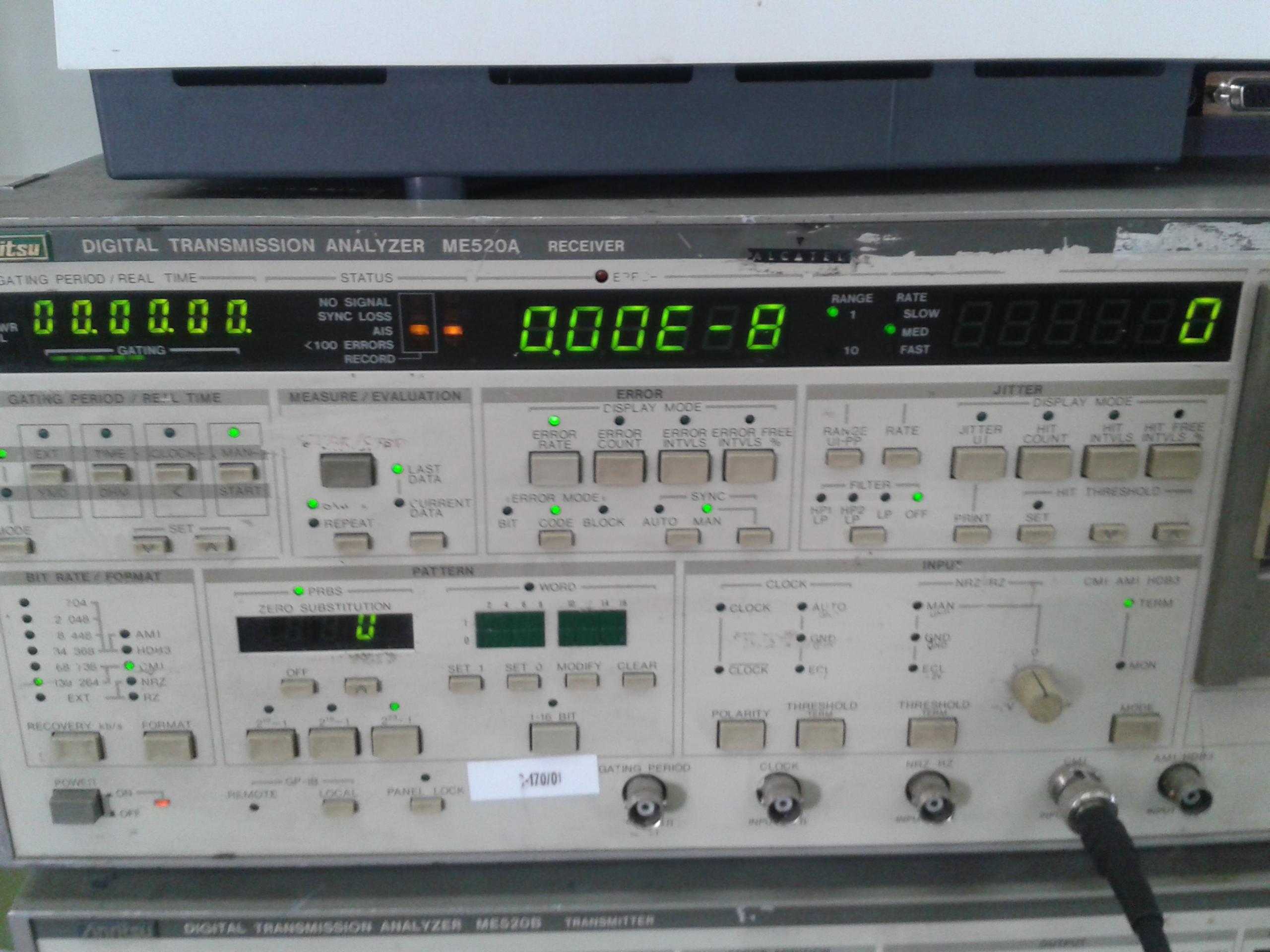 Medidor de tasa de error plesiosíncrono con 10 -8 errores