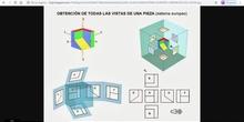 Vídeo simulación vistas de una pieza 2 ESO:
