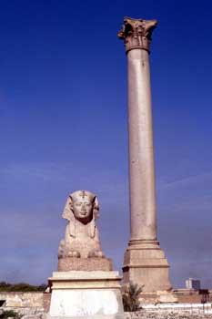 Columna de Pompeyo en Alejandría, Egipto