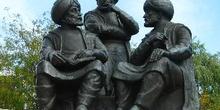 Estatua en los Jardines, Estambul, Turquía