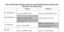 Examenes Evaluación Ordinaria Distancia 2017/18