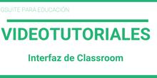 Interfaz de Classroom