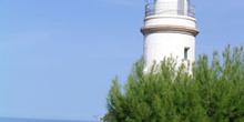 Faro en la bahía de Sóller, Mallorca