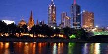 Vista nocturna de Melbourne, Australia