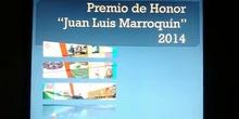 """CEIP El Sol, Premio de Honor """"Juan Luis Marroquín 2014"""