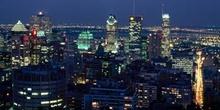 Vista nocturna de Montreal, Canadá