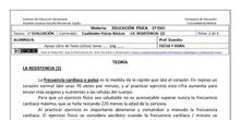 Ficha de Cualidades Físicas Básicas  -Resistencia 2 para 1º ESO