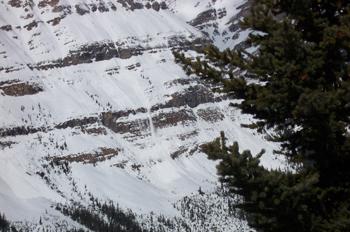 Alúd de nieve, Parque Nacional Banff