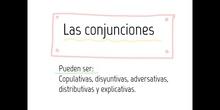 PRIMARIA - 5º - CONJUNCIONES - LENGUA - FORMACIÓN