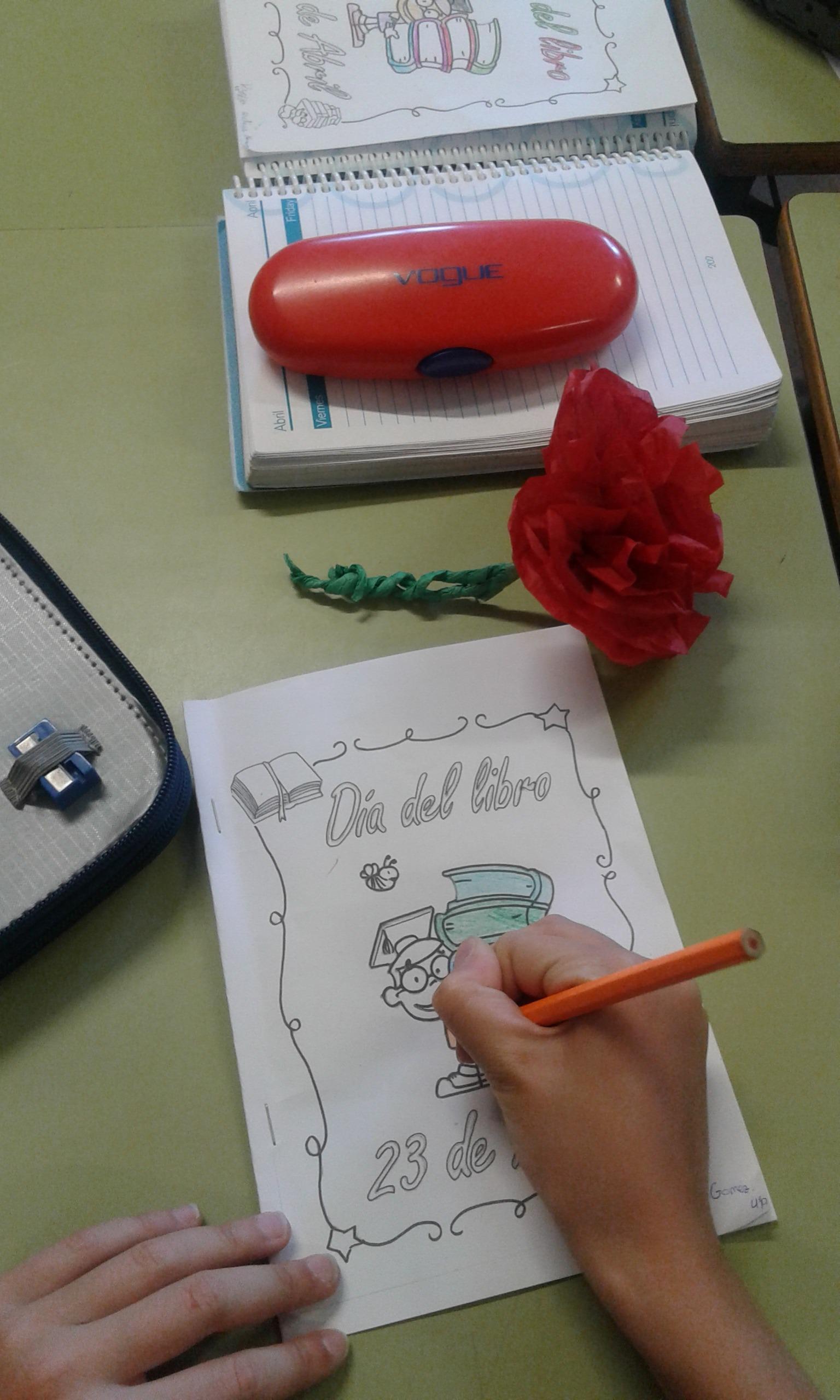 Día del libro. Escribimos nuestro libro, lo leemos a nuestros compis y regalamos una flor 6