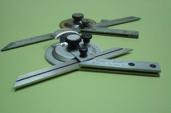 Verificación de angulos. Varios modelos de Goniometro.