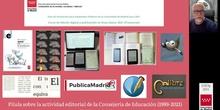 EdiDig21 LB-12 Actividad editorial de la Consejería de Educación (1999-2021)