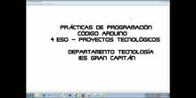 Miniclase de programación con Arduino