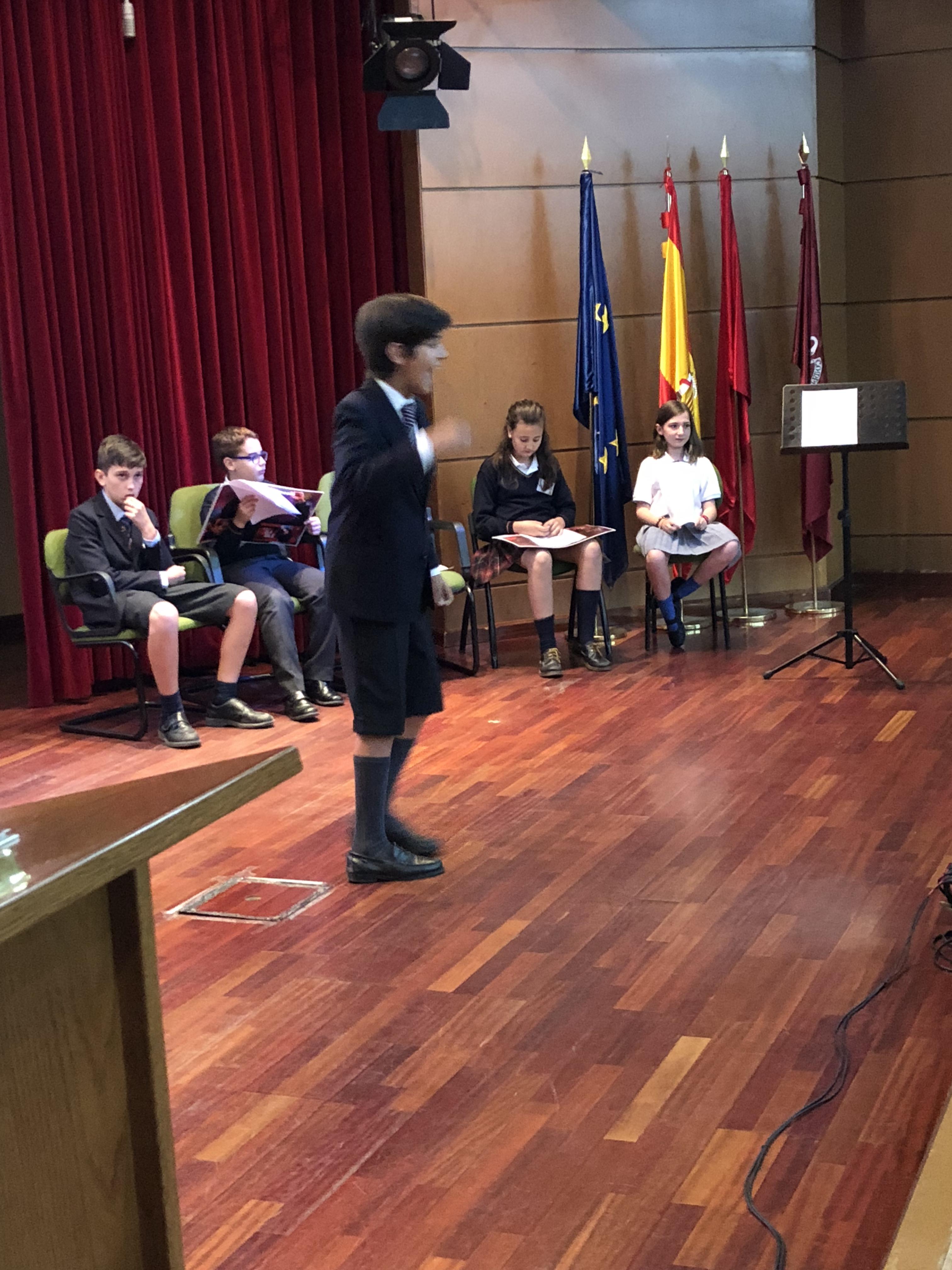 Fase final del III Concurso de Oratoria en Primaria de la Comunidad de Madrid 1