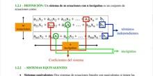3.Sistema de ecuaciones. Sistemas equivalentes. Transformaciones básicas