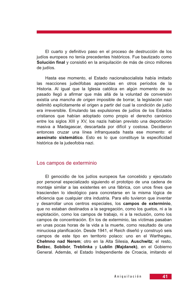 Página 41 de la Guía Didáctica de la Shoá