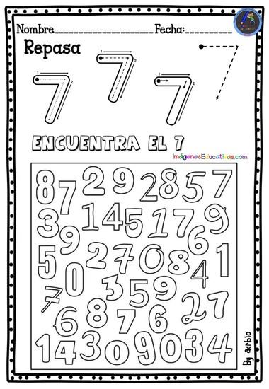 REPASA Y ENCUENTRA EL NUMERO 7