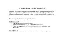 Trabajo Proyecto Genoma Humano